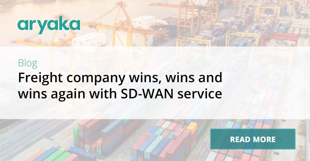 Freight company wins, wins and wins again with SD-WAN service