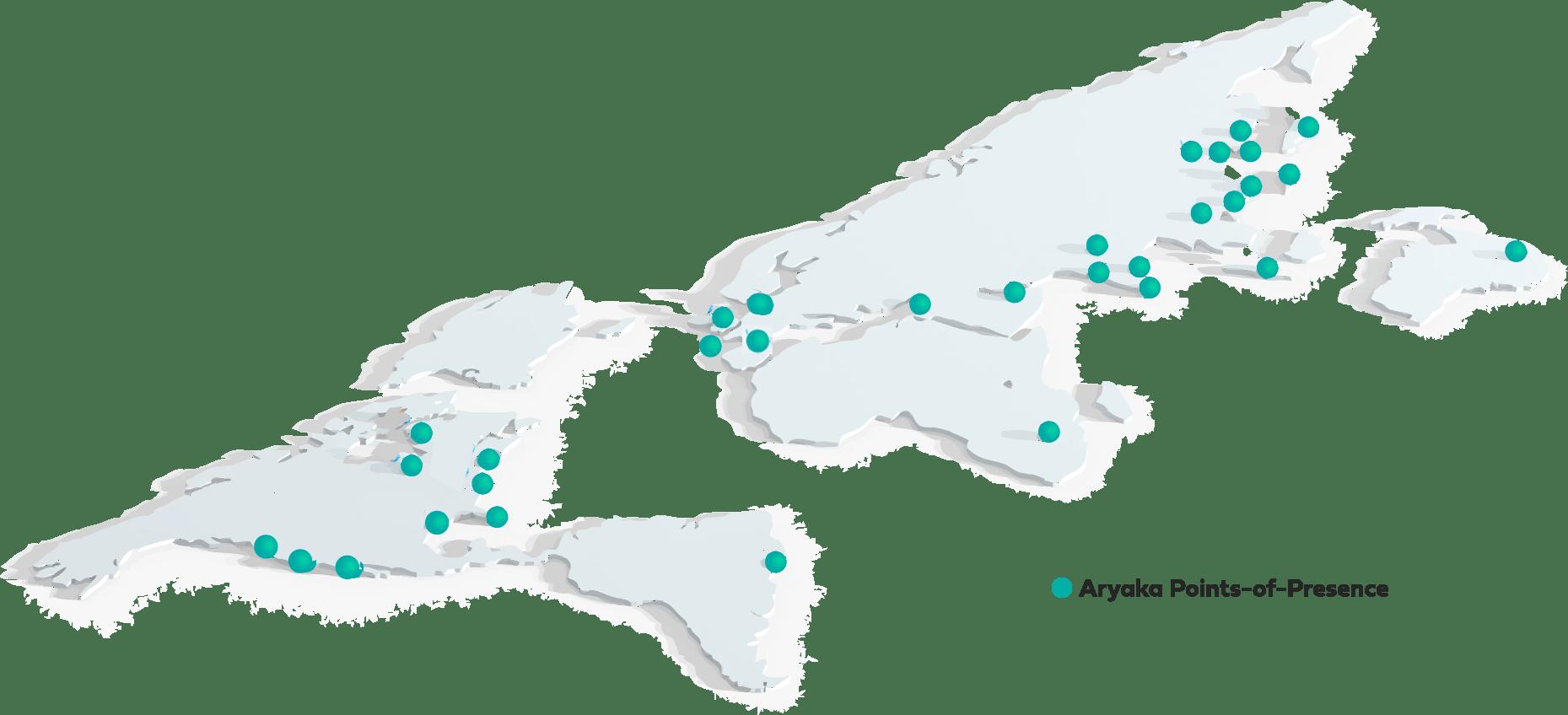 Aryaka Points of Presence