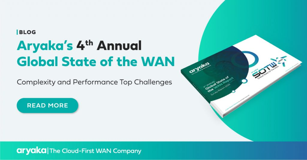 Aryaka's 4th Annual Global State of the WAN – Complexity and Performance Top Challenges
