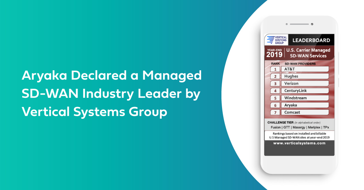 Aryaka Declared a Managed SD-WAN Industry Leader by Vertical Systems Group