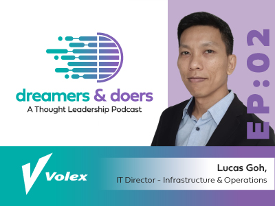 Disrupt yourself or somebody else will – Aryaka Dreamers and Doers Podcast featuring Volex, PLC.